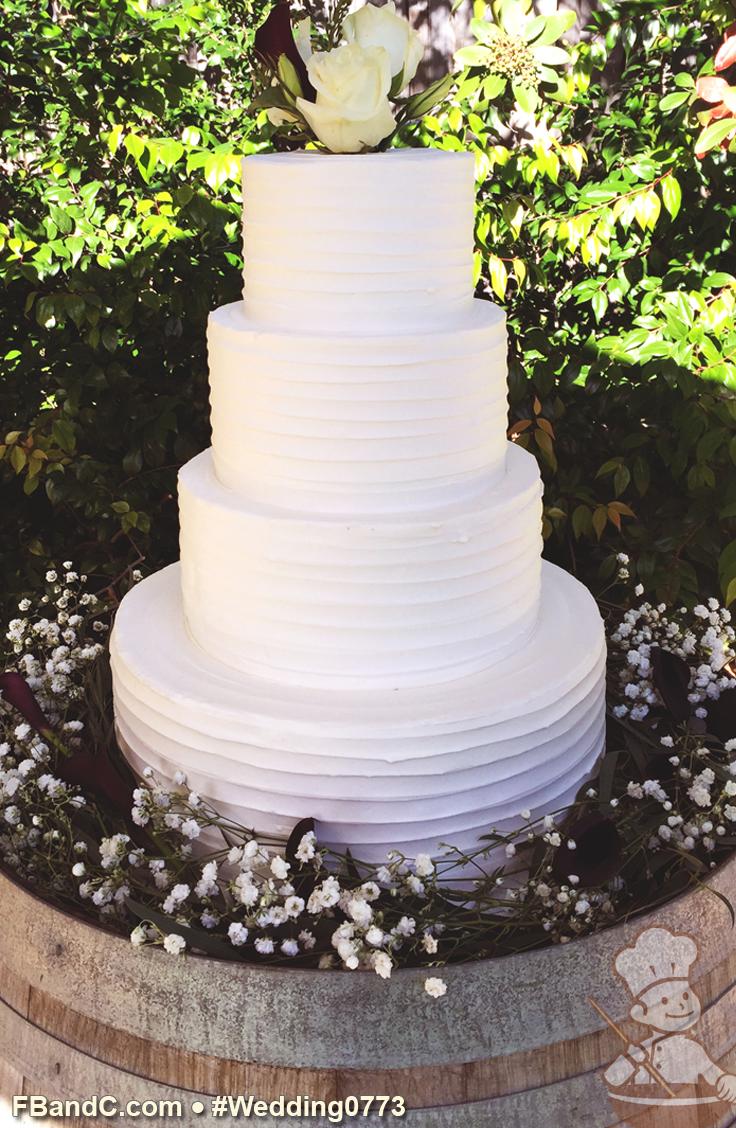 Design W 0773 | Butter Cream Wedding Cake | 14\