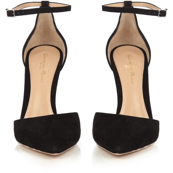 Gianvito Rossi Camoscio Point Toe Suede Pumps 795 Liked On Polyvore Featuring Shoes Pumps Bla Black Pumps Heels Black Shoes Heels Black Block Heel Pumps