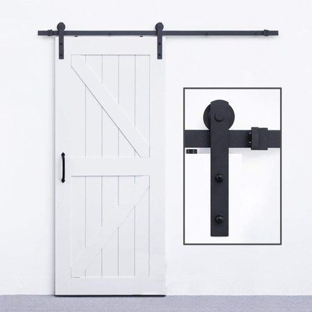 Wood Door Sliding Track Space Saving Door Roller Sliding Barn Door Hardware Black Sliding Barn Door Hardware Barn Door Diy Barn Door