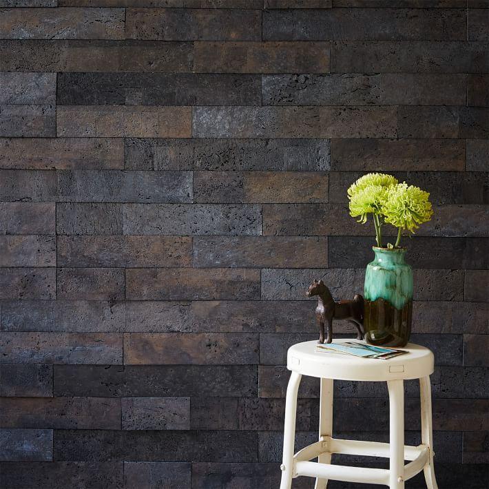 Muratto Cork Wall Covering Gray Cork Wall Cork Wall Panels Adhesive Wood Paneling