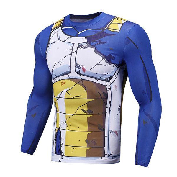 awesome Compression Gear T-Shirt Longsleeve Rashguard Vegeta Dragon Ball Z  Manga -  crossfit  fitness  forgym  rashguards  rashguards  training   Workout ... 0ecca8c978904
