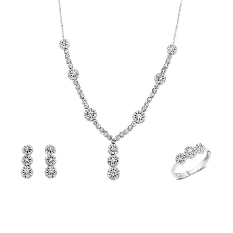 Λευκόχρυσο σετ κοσμημάτων Κ.14 a590553f57b