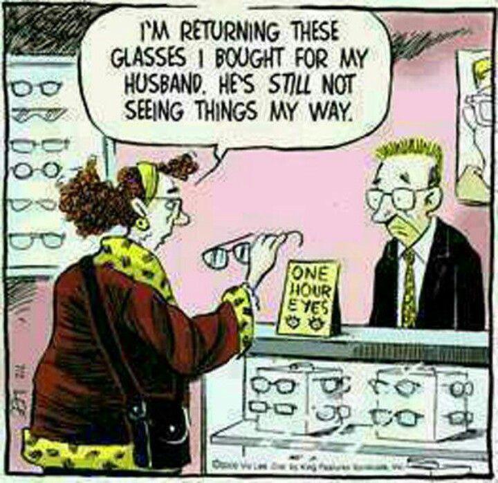 I'm returning these glasses...