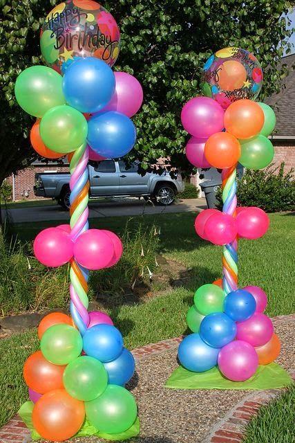 decoracin con globos para cumpleaos infantiles fiestas