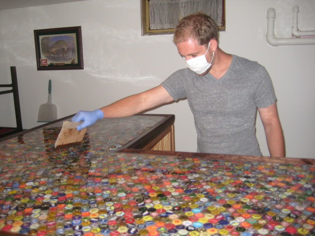 Epic Beer Cap Bar Top For The Man Cave