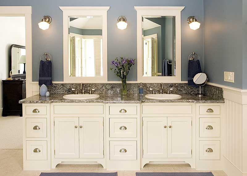 25 White Bathroom Cabinets Ideas | Bathroom Vanity Lighting