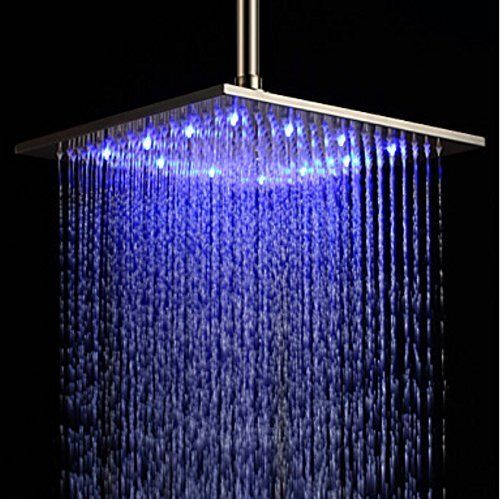 Bathroom 20 Inches Rain Shower Head Chrome Brass Ultrathin Shower