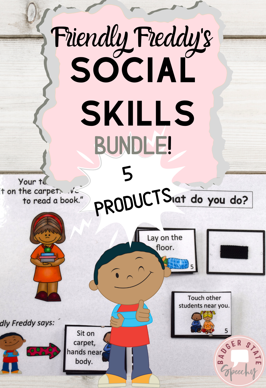 Elementary Social Skills Interactive Books Bundle