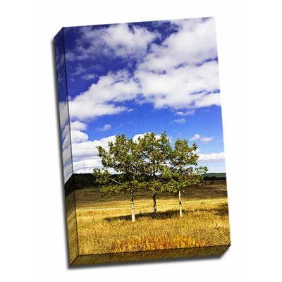 Picture it on Canvas 'Autumn Fields 4' Photographic Print Wrapped Canvas
