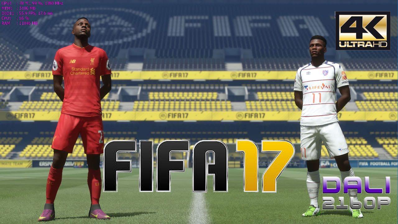 Fifa 17 Pc Gameplay 4k Ultrahd 2160p 60fps Fifa 17 Fifa Gameplay