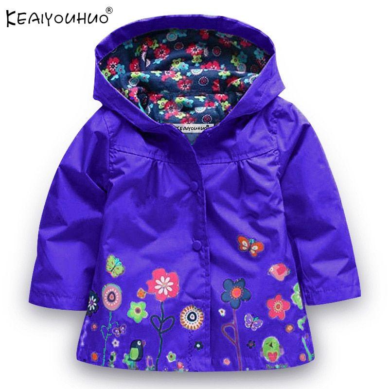 ab8425455 Spring 2019 Girls Jackets Children Outerwear Hooded Girls Coats ...