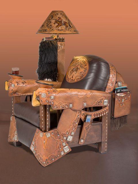 Armchair Cowboy Western Home Decor Ideas