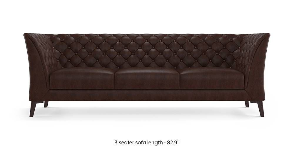 Weston Half Leather Sofa Chocolate