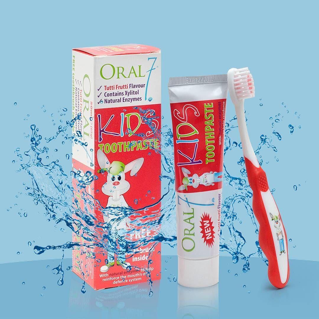 معجون أطفال بنكهة توتي فروتي مع الانزيمات الطبيعية متوفر في سيفكو Oral 7 Kids Toothpaste Available In Saveco Thin Body Body Toothpaste