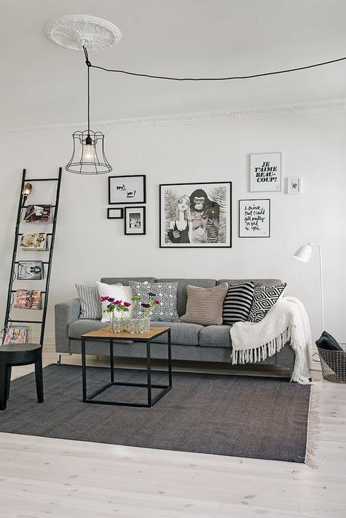 echelle decorative dans decor scandinave