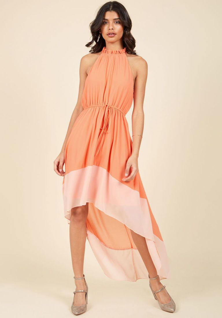 Befitting of fame maxi dress in peach inspired style pinterest