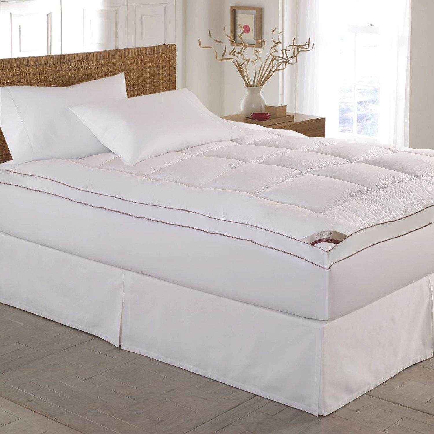 kathy ireland home gallery cotton gusseted feather bed kathy