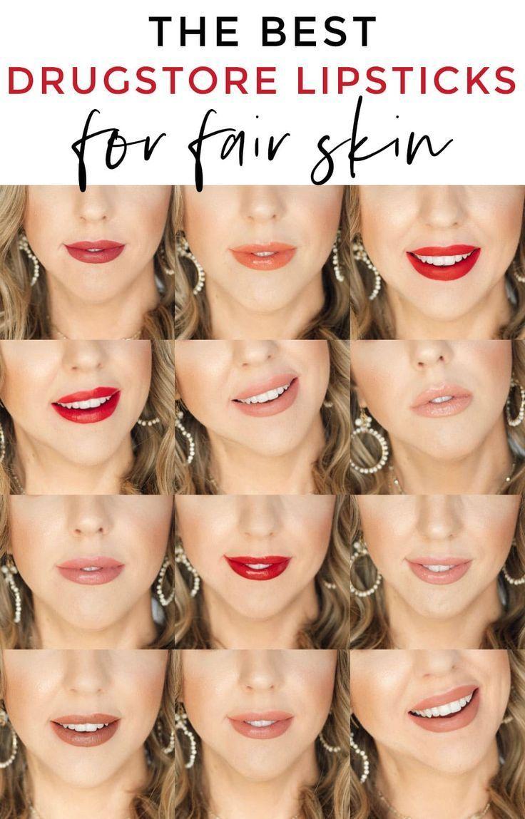 The best drugstore lipsticks for fair skin  via @mego