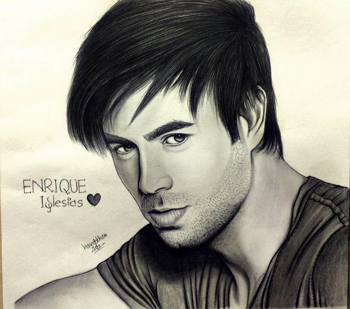 Enrique Iglesias Pencil Sketch Sketches Male Sketch