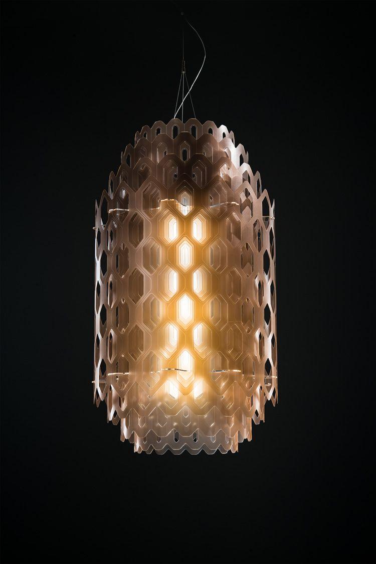 Pipe 3 led suspension lamp decor walther ambientedirect com - Doriana Massimiliano Fuksas Layer Chantal Light For Slamp