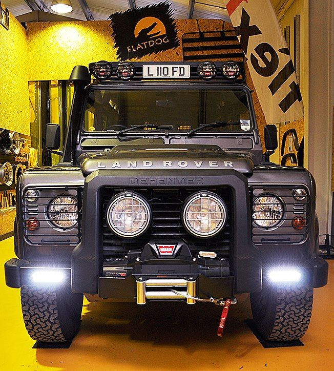 Winch Bumper With Led Lights By Rovers North For Discovery: Defender Winch Bumper With Daytime Running Lights For The