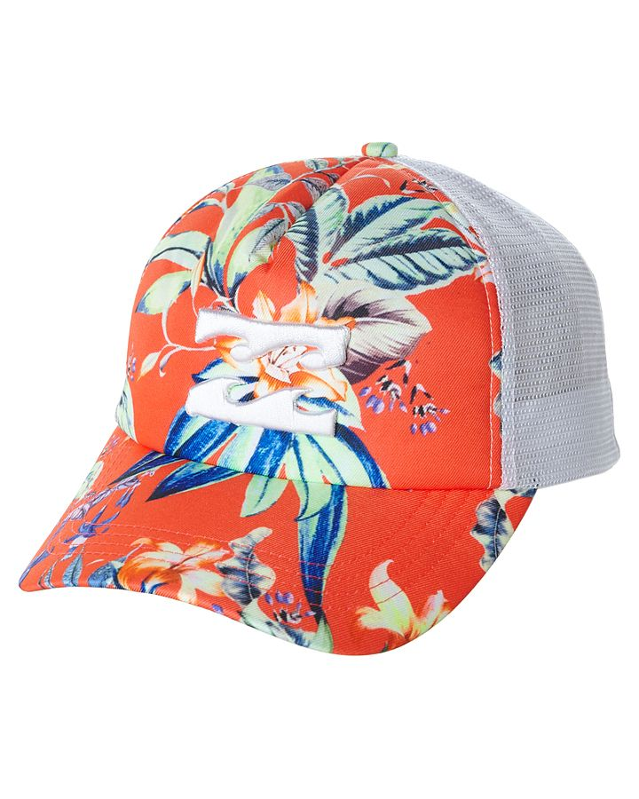 994685b659a41 Features  Colour  Fiesta Red Material  100% Polyester Trucker style cap  Printed front panel Adjustable snap back Curved brim Front panel  embroidered logo ...