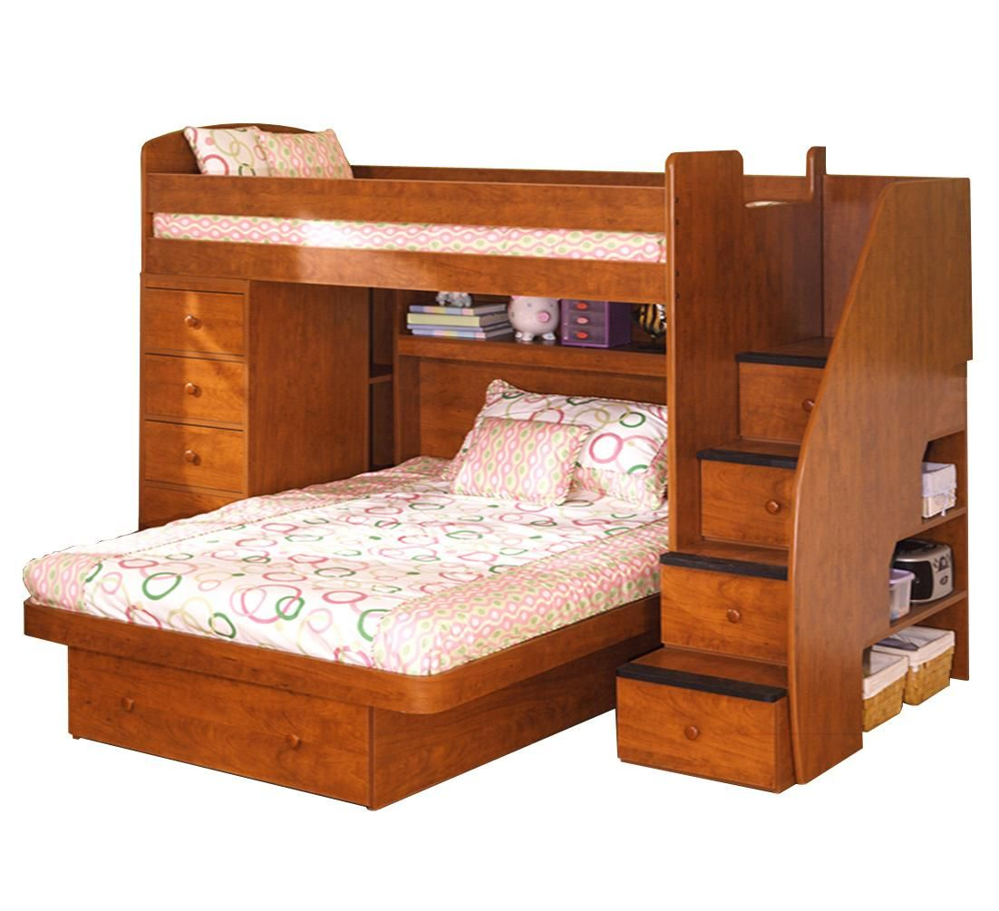 Space Saver Bunk Beds space saver twin over full bunk bed with chestberg - darvin