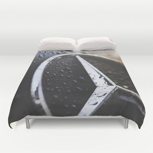 Burning Benz Duvet Cover , by Happy Melvin -   Available as T-Shirts & Hoodies, Stickers, iPhone Cases, Samsung Galaxy Cases, Posters, Home Decors, Tote Bags, Prints, Cards, Kids Clothes, iPad Cases, and Laptop Skins