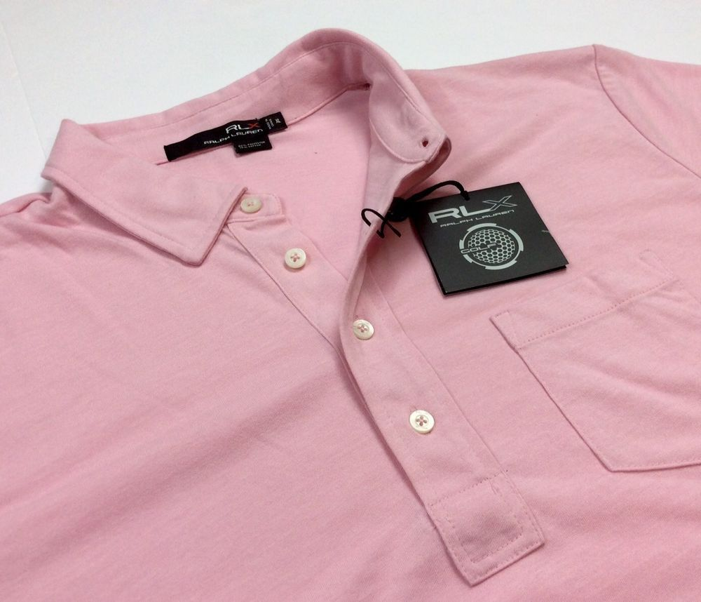 Premium vintage 1967 big amp tall men s big amp tall premium tank - Rlx Golf Ralph Lauren Men Light Pink Polyester Cotton Sport Polo Green Shirts