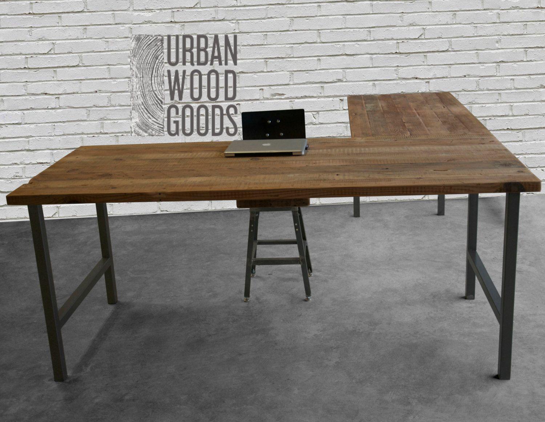 Build Reclaimed Wood L Shaped Desk