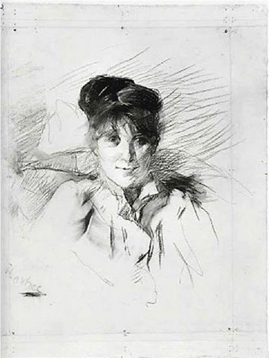 Henri de Toulouse-Lautrec - Portrait de Femme, 1895 #arte