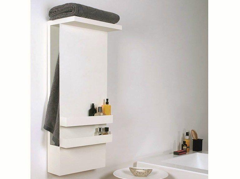 Wall Mounted Electric Aluminium Towel Warmer Shelf By Mg12 Design Monica Freitas Geronimi Towel Warmer Shelves Electric Towel Warmer