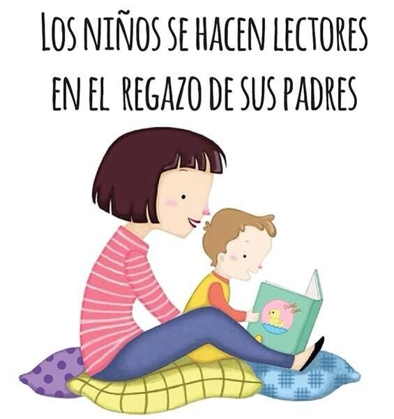 La Importancia De La Lectura Desde Pequenos Ninos Leyendo Animacion A La Lectura Frases De Lectura