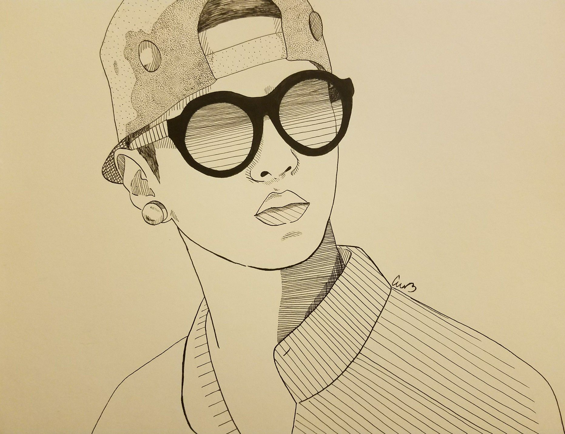 Line Art Portrait : Hurricane fan fanart kpop kpopfanart kpopfan illustration