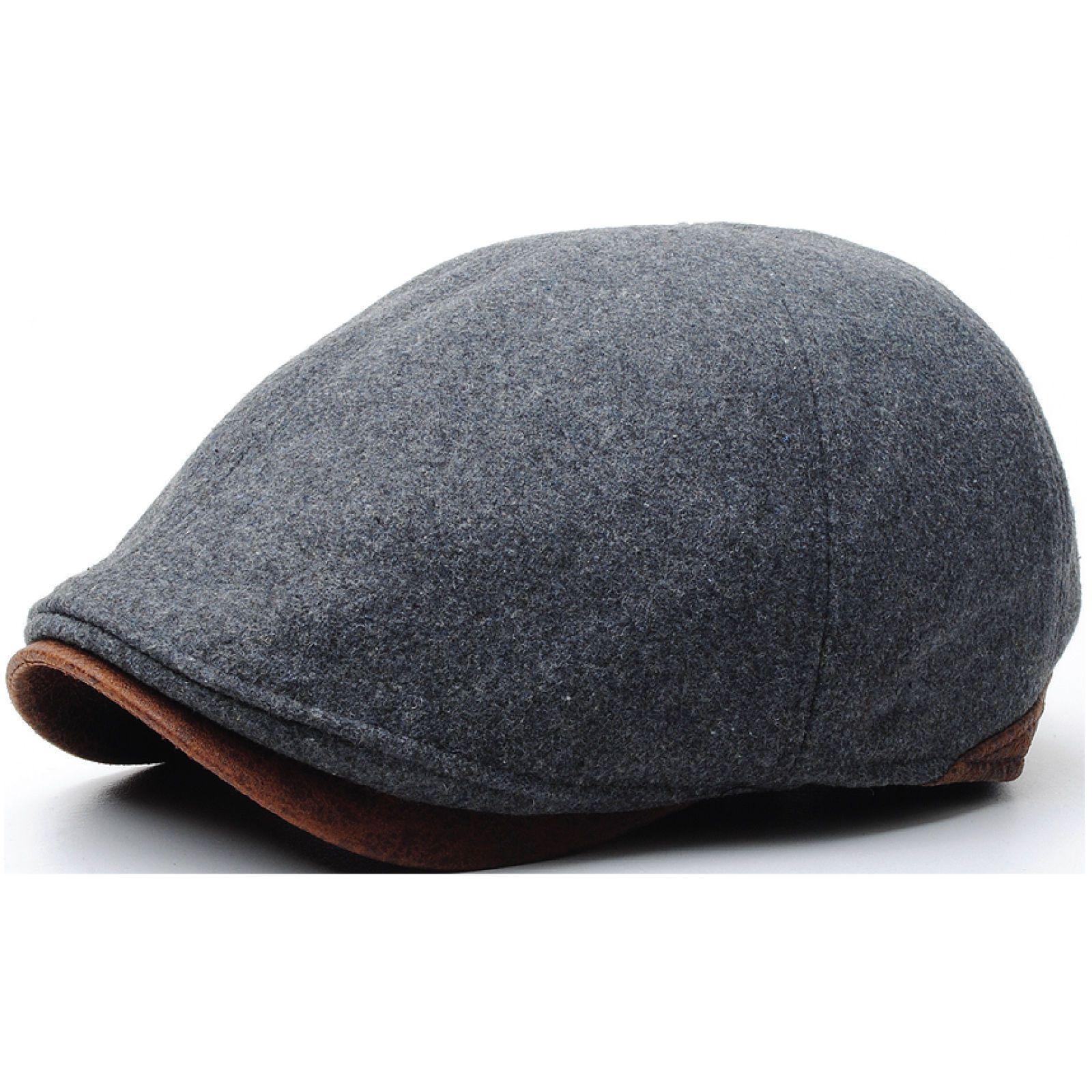 3438b06b9fc N07 Driving Wool Crack Faux Leather Style Ivy Cap Cabbie Ascot Newsboy  Beret Hat