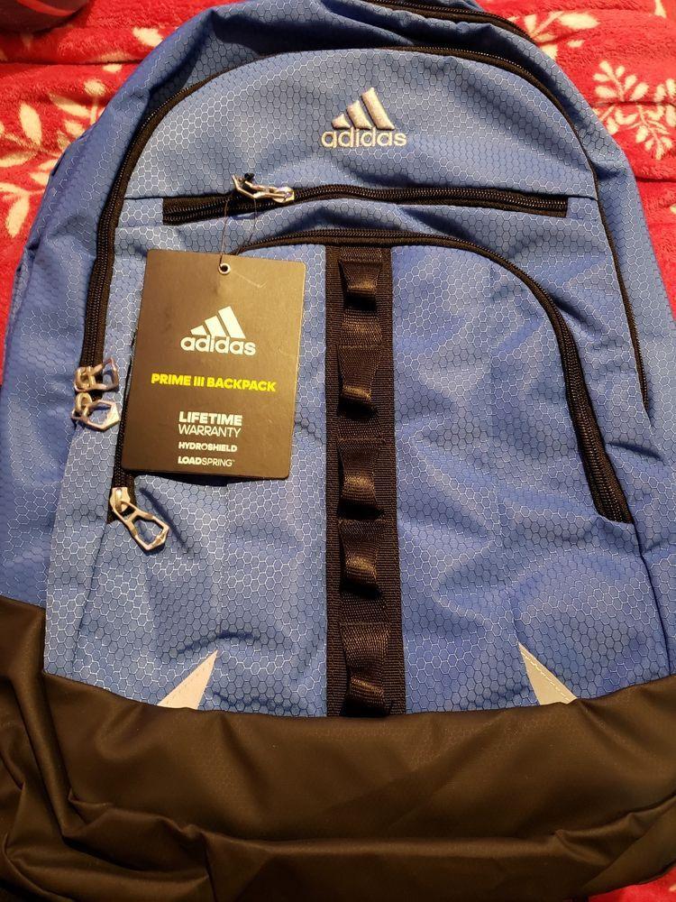 NEW Adidas Prime III Backpack Laptop Hydroshield Loadspring Blue B161   fashion  clothing  shoes  accessories  unisexclothingshoesaccs   unisexaccessories ... 1b1a1b4773f21