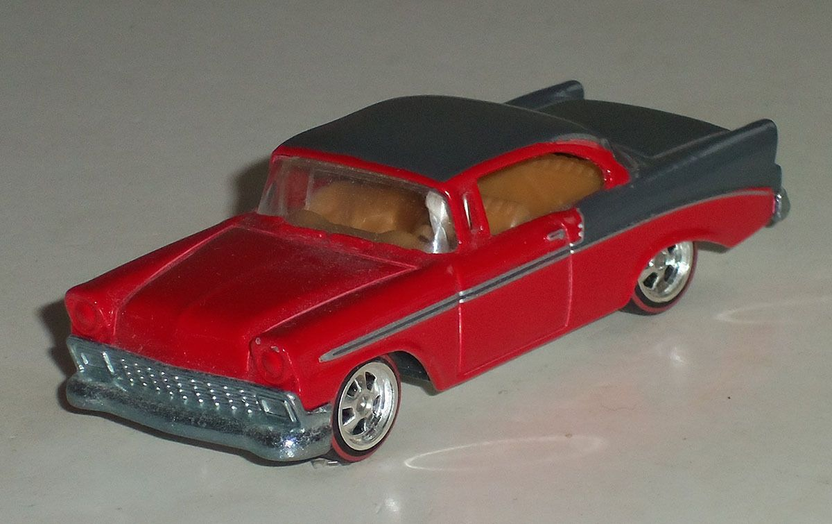 Hot Wheels 1956 Chevy Near Mint Condition 1/64 scale Hot