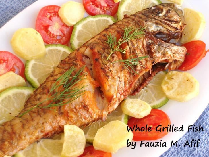 Whole Grilled Fish Seafood Pinterest Fish Recipes Fish And