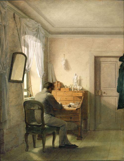 Georg Friedrich Kersting Man at his Desk (1811). Klassik Stiftung Weimar, Goethe Nationalmuseum.