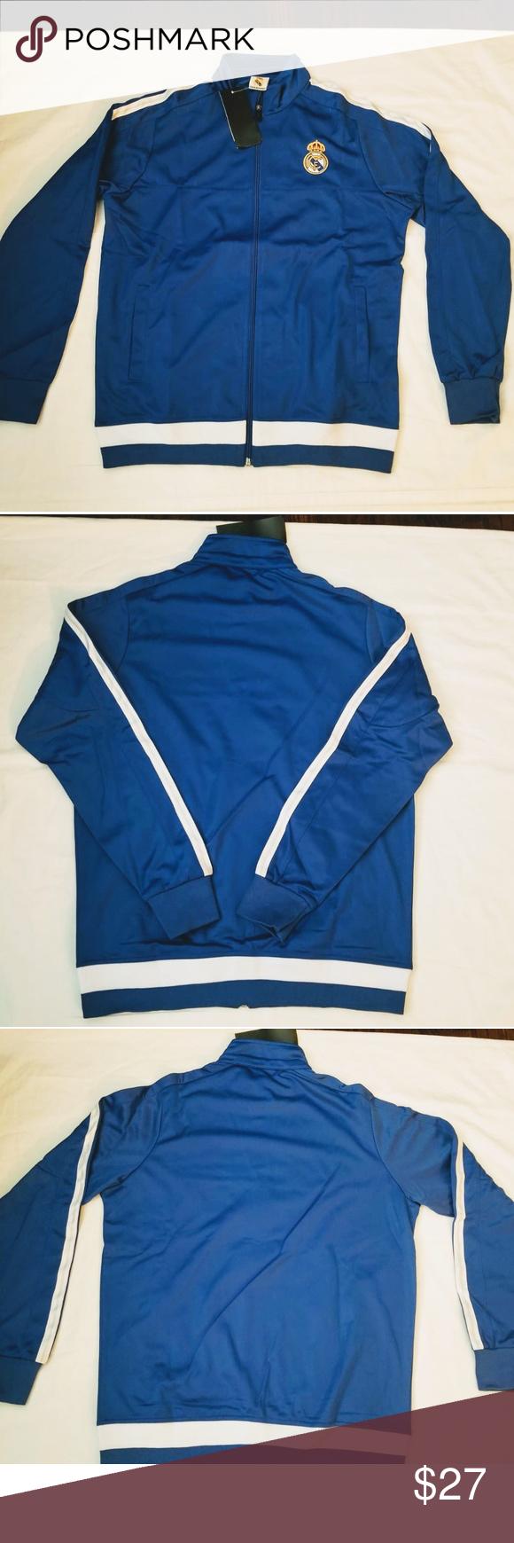 Real Madrid track jacket adult sizes Track jacket Real Madrid Chamarra  Deportiva Blue color SPORTS Jackets   Coats 5f1775fa20f29