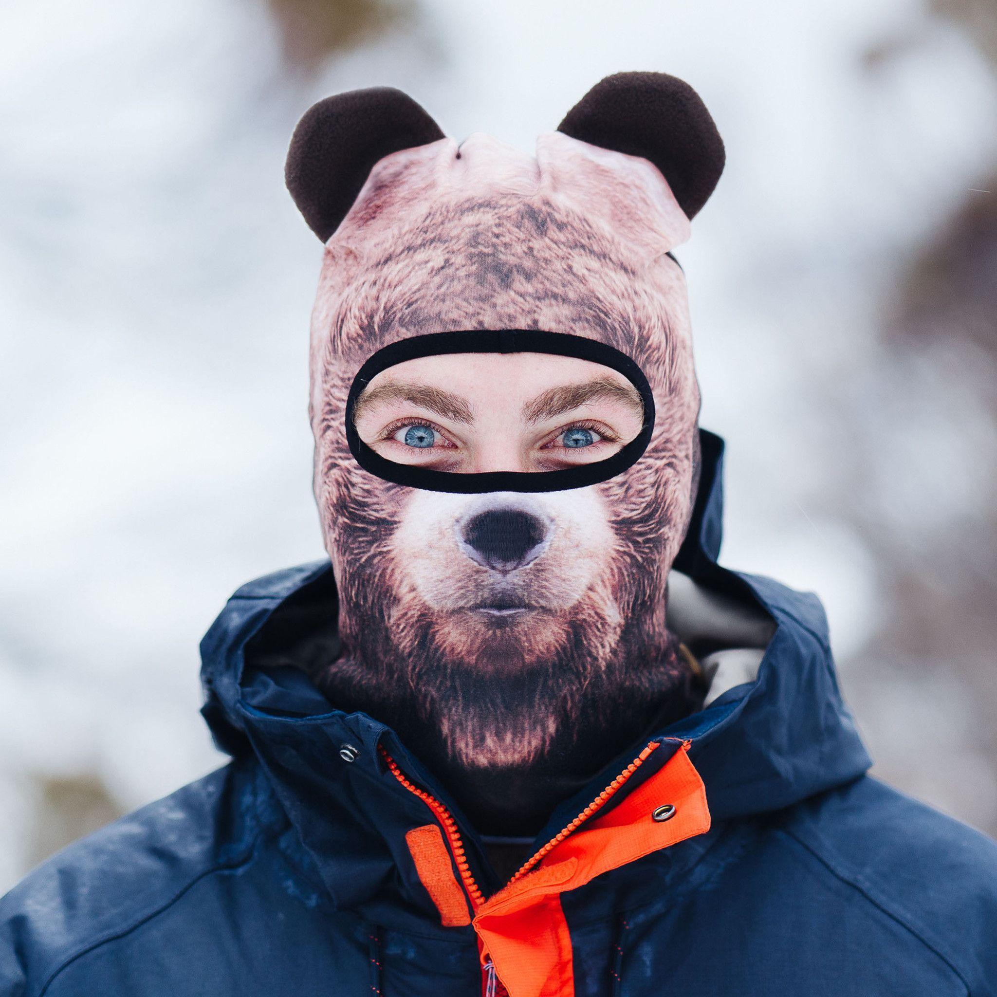 BEAR Ski Mask Animal faces, Angry cat, Animals