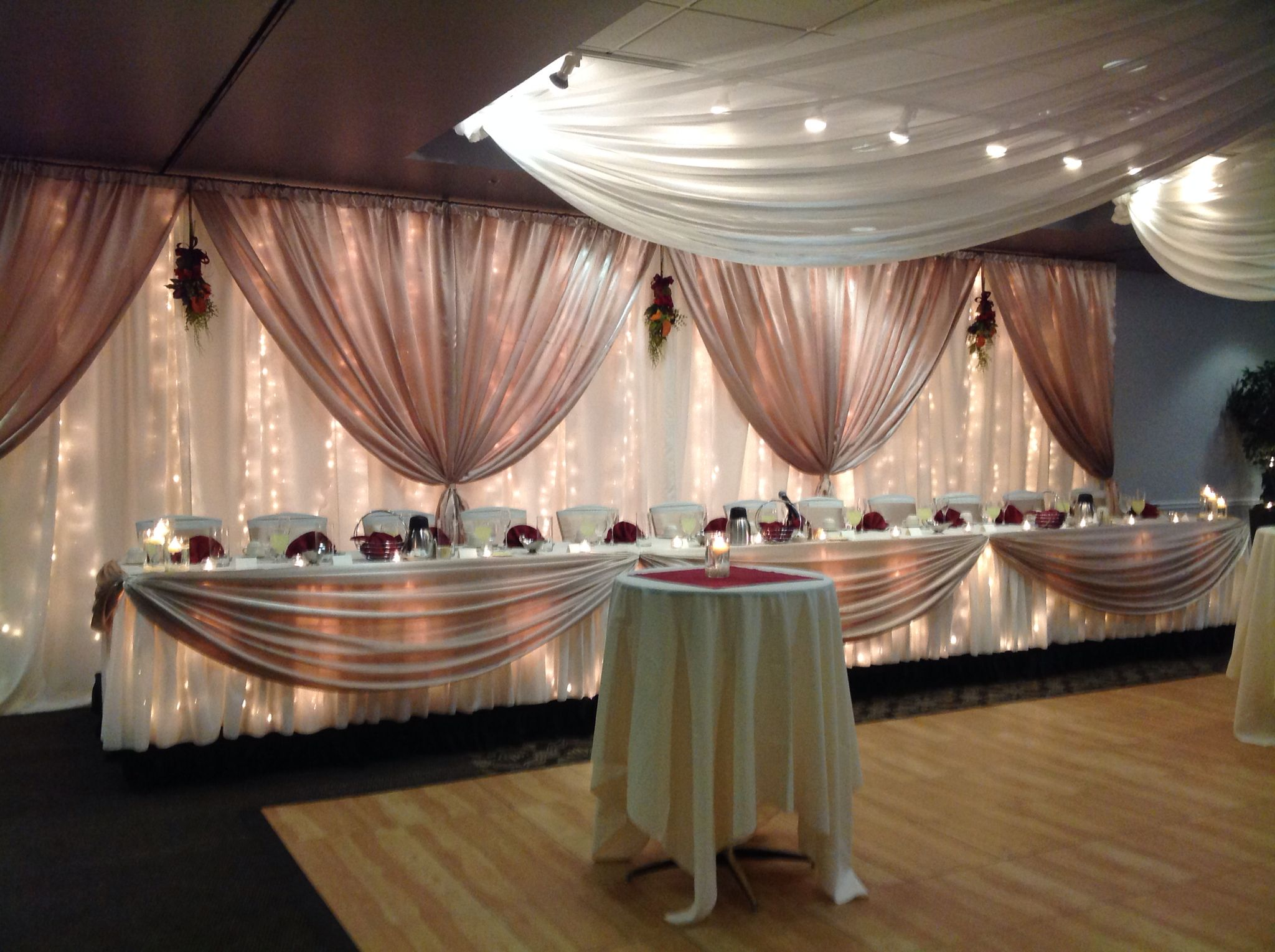 Canadian Honker Events At Apace Rochester Mn Weddings Decor Headtable Backdrop Head Table Wedding Beautiful Decor Wedding Deco