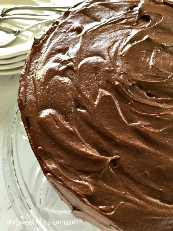 Our Homestyle Chocolate Cake from Scratch is super moist has rich