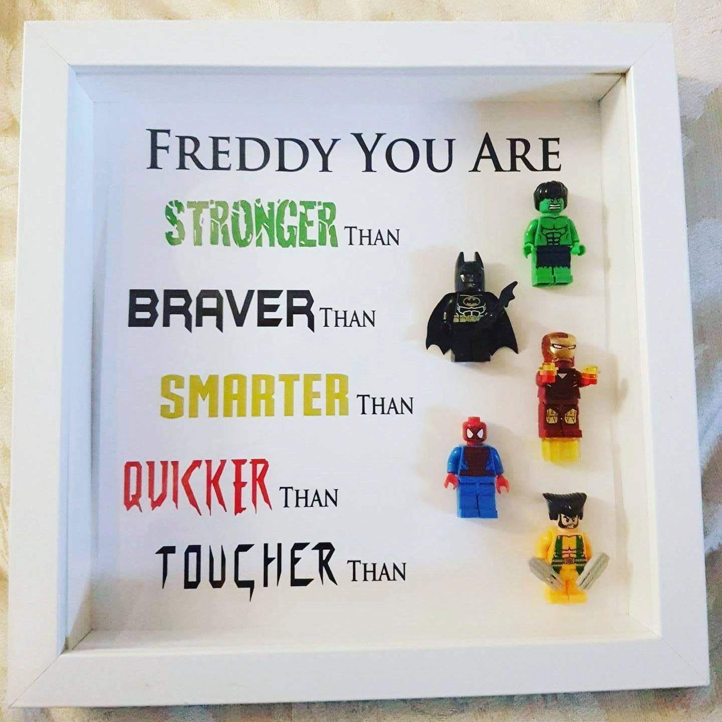 Personalised 9x9 Inch Mini Figure Frame Perfect T For