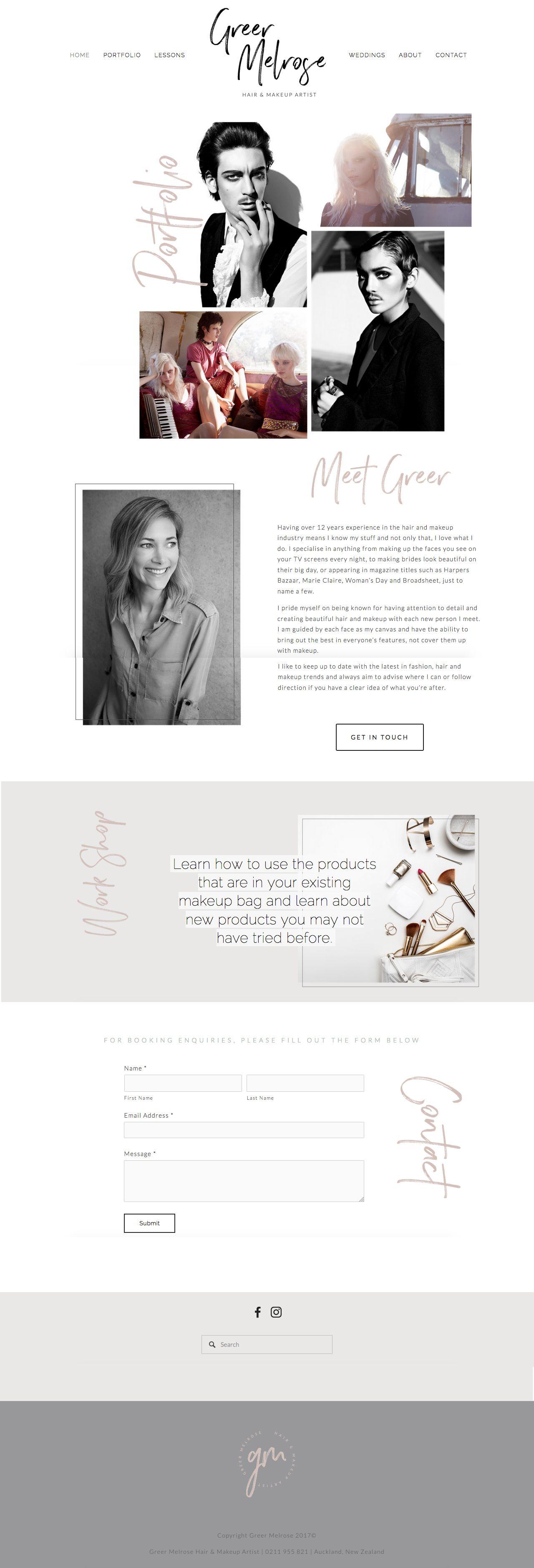 makeup artist resume%0A Squarespace webdesign by Polka Dot Heart Design   Makeup Artist Portfolio  Website   Branding  Brand