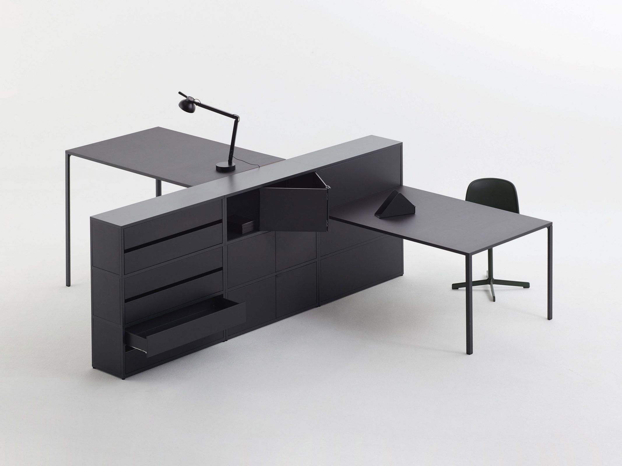 New Order 2 0 Is A Minimalist Shelving System Designed By Munich Based Studio Die System Furniture Modular Home Office Furniture Office Furniture Manufacturers