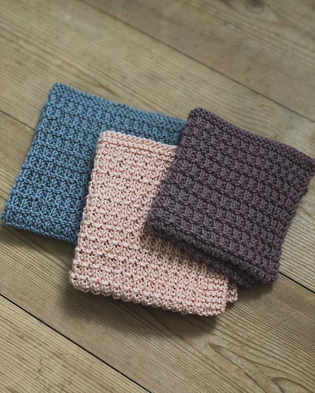 Yndlingsklud - Gratis opskrift på strikket karklud - Ecoknitting #gratismønster