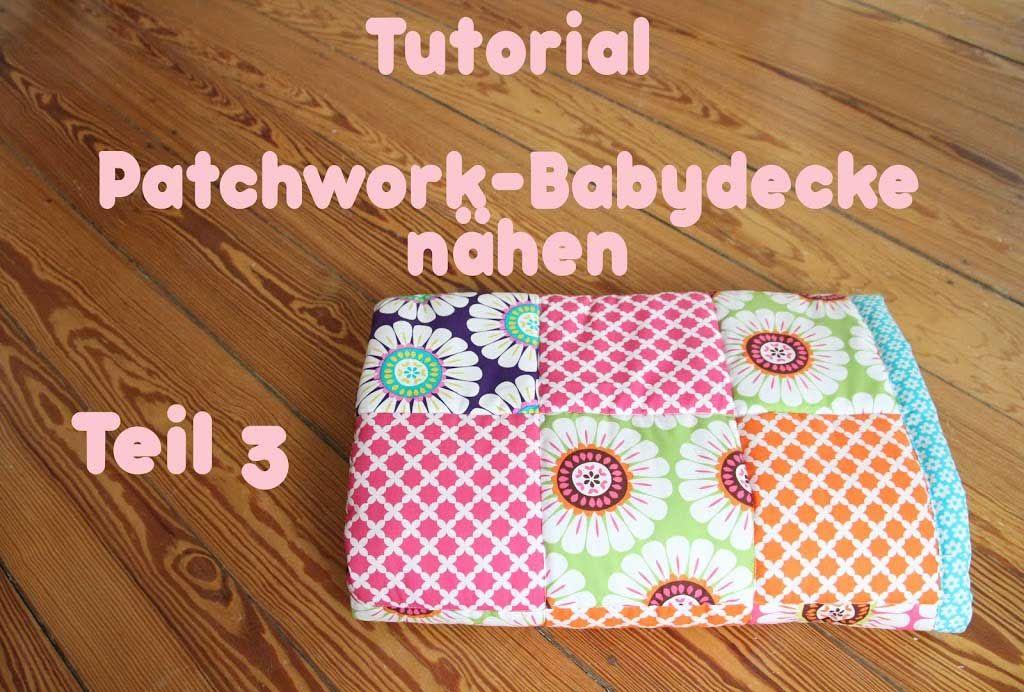 Patchworkdecke quilten - Anleitung wie man eine Decke näht ...