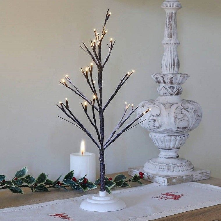 Rama de rbol para decora la casa en navidad al estilo - Arbol navidad elegante ...