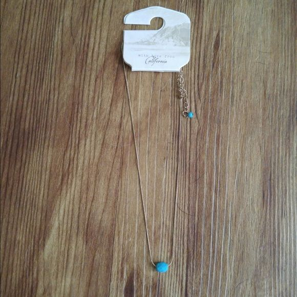 New Gold Necklace New, with tags gold and turquoise necklace PacSun Jewelry Necklaces